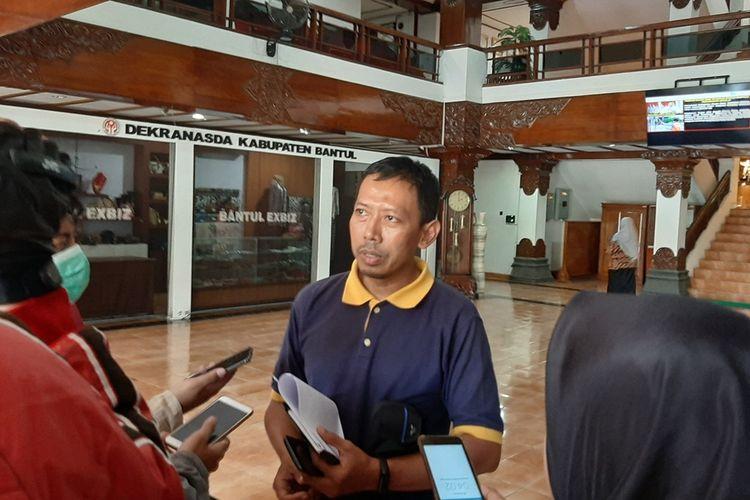 Juru bicara Gugus Tugas Percepatan Penanganan Infeksi COVID-19 Pemkab Bantul, Sri Wahyu Joko Santosa di Kantor Pemkab Bantul Beberapa Waktu lalu