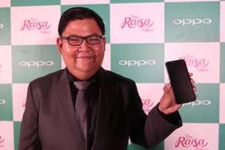 Media Engagement Oppo Indonesia, Aryo Meidianto, Rabu (7/12/2016), dalam peluncuran Oppo F1s Your Raisa Phone di Jakarta.