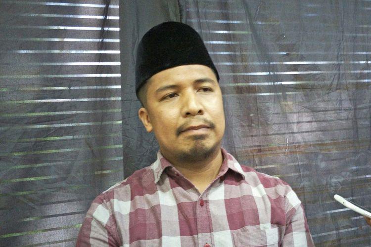 Wakil Sekretaris Jenderal Federasi Serikat Guru Indonesia (FSGI) Satriwan Salim di Kantor LBH Jakarta, Minggu (3/12/2017).