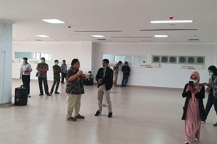 IRD JADI ISOLASI—Inilah ruang isolasi baru yang sebelumnya dirancang menjadi ruang rawat darurat di lantai enam RSUD dr. Soedono Madiun.