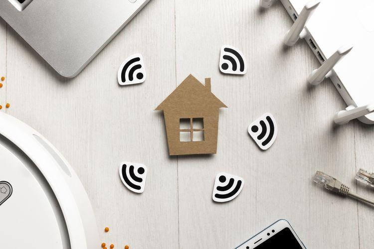 Ilustrasi wifi di rumah.