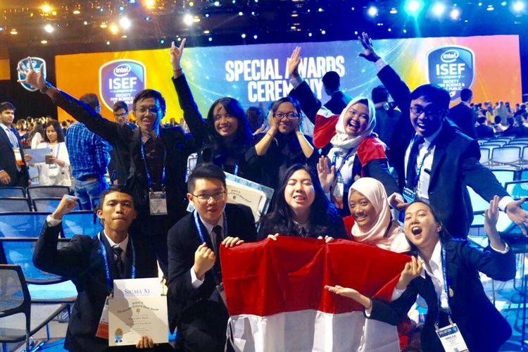 Para pelajar delegasi Indonesia dalam ajang Intel ISEF 2019 yang diselenggarakan di Phoenix, Arizona