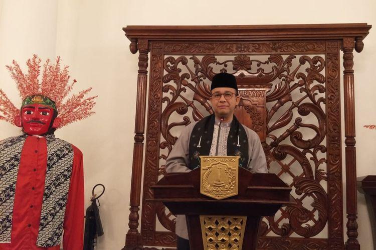 Gubernur DKI Jakarta Anies Baswedan di Balai Kota DKI Jakarta, Jalan Medan Merdeka Selatan, Jumat (19/7/2019).