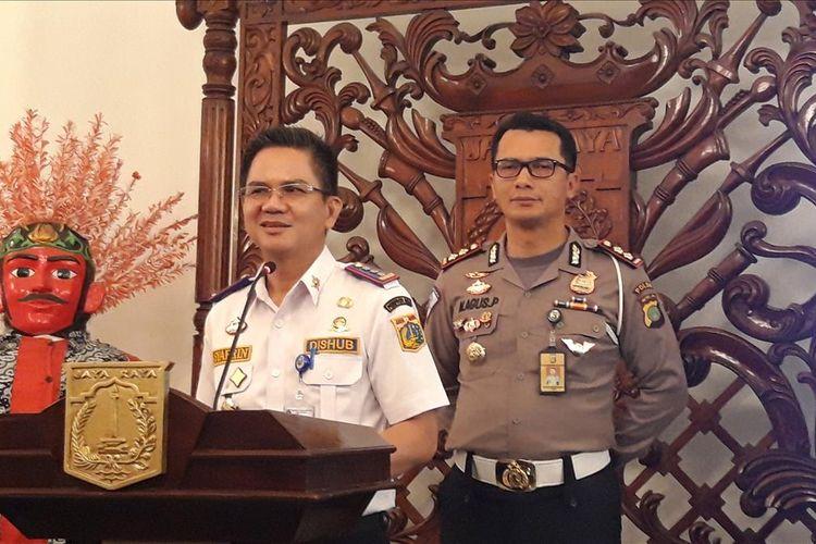 Kepala Dinas Perhubungan DKI Jakarta Syafrin Liputo, di Balairung, Balai Kota, Rabu (7/8/2019)