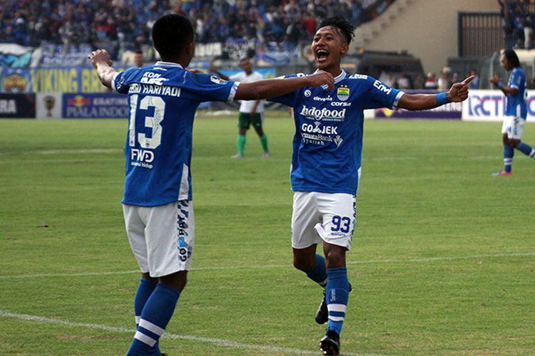 Pemain Persib Bandung, Beckham Putra Nugraha. (KOMPAS.com/SEPTIAN NUGRAHA)