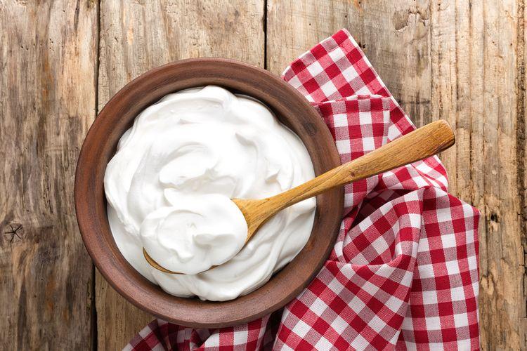 ilustrasi yoghurt.