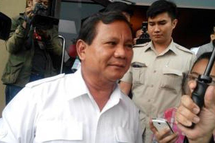 Ketua Dewan Pembina Partai Gerakan Indonesia Raya (Gerindra) Prabowo Subianto