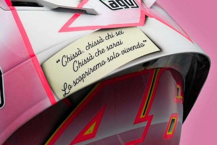 Desain spesial helm Valentino Rossi untuk MotoGP San Marino 2021
