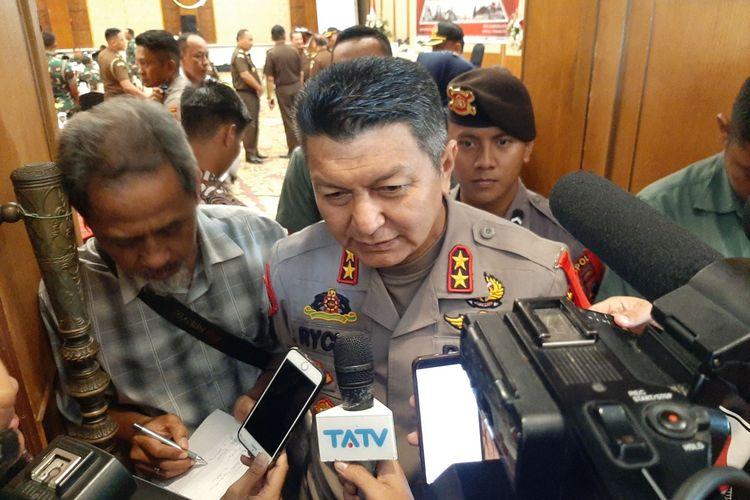 Kapolda Jateng Irjen Pol Rycko Amelza Dahniel usai menghadiri rapat Forkompimda Kabupaten/Kota se Jawa Tengah, di Hotel Patrajasa Semarang, Kamis (19/12/2019).