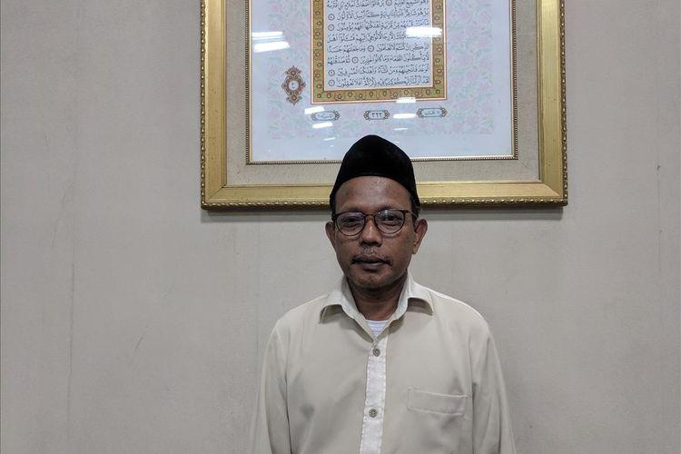 Tony Fathoni, Ketua Panita Idul Adha Jakarta Islamic Center di kantornya, Jumat (9/8/2019)