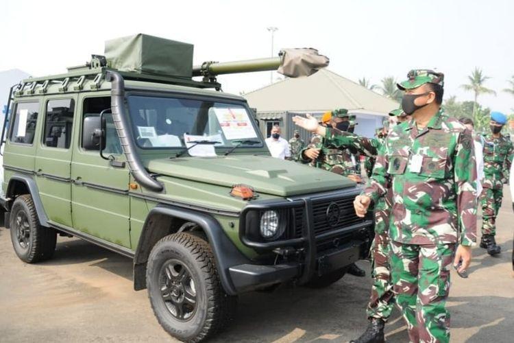 Kepala Staf Angkatan Udara (KSAU) Marsekal TNI Fadjar Prasetyo meninjau pembangunan infrastruktur satuan peluru kendali (Satrudal) National Advanced Surface to Air Missile System (NASAMS) TNI AU di Teluk Naga, Tangerang, Banten, Rabu (5/8/2020).