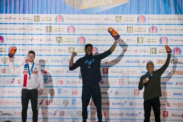 Atlet panjat tebing nasional Aspar Jaelolo berhasil mencetak medali perunggu di IFSC Climbing Worldcup di Moscow, Rusia, 12-14 April 2019. Medali tersebut didapat dari nomor speed world record putra.