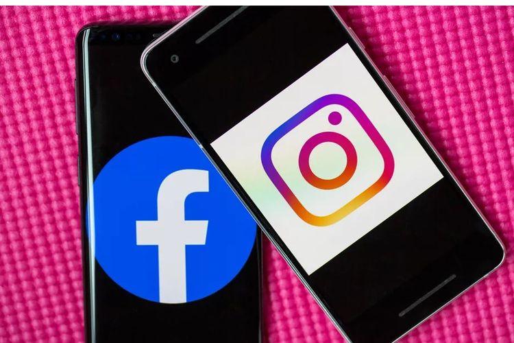 Ilustrasi Facebook dan Instagram