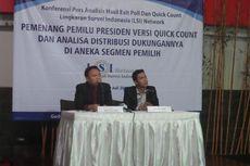Hitung Cepat LSI: Jokowi-JK 53,37 Persen, Prabowo-Hatta 46,63 Persen