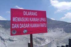 Aktivitas Erupsi Gunung Tangkuban Parahu Mulai Menurun, Status Tetap Waspada