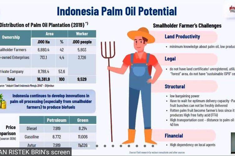 Bambang Brodjonegoro saat memaparkan materi mengenai potensi bahan bakar nabati sawit di Indonesia.