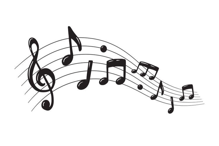 Ilustrasi notasi musik.