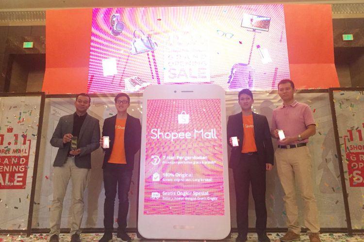 Peluncuran Shopee Mall Indonesia di Grand Ballroom A, Hotel Indonesia Kempinski, Jakarta. Kamis (09/11/2017)
