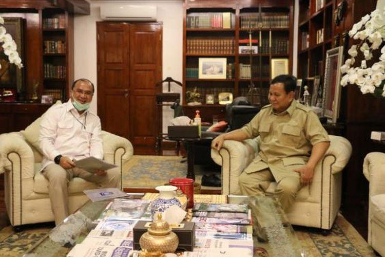 Gubernur Kepulauan Bangka Belitung Erzaldi Rosman dan Menhan Prabowo Subianto.