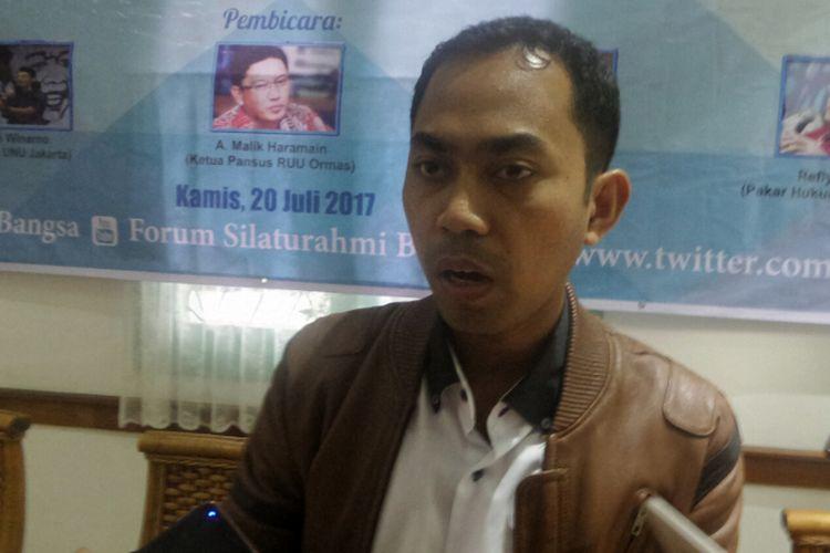 Wakil Sekretaris Komisi Hukum dan Perundang-undangan Majelis Ulama Indonesia (MUI) Erfandi