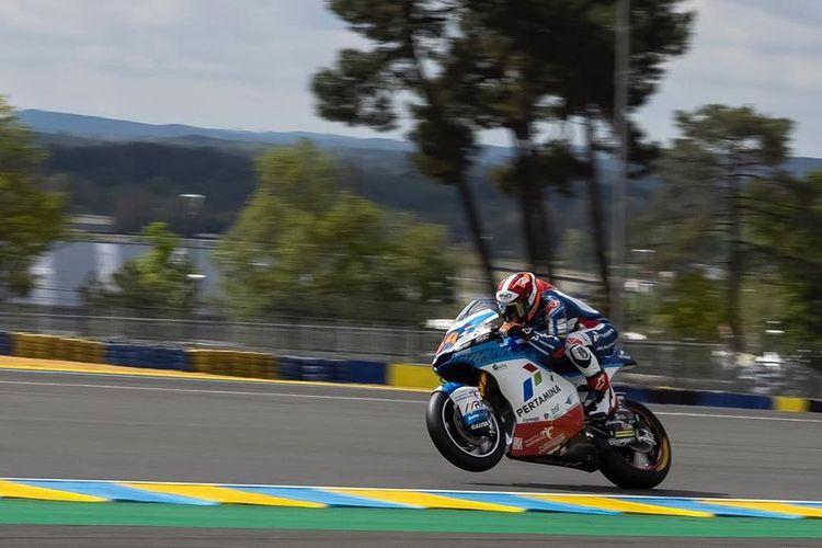 Bo Bendsneyder saat balapan pada Moto2 Prancis 2021