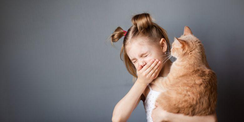 Ilustrasi alergi pada anak