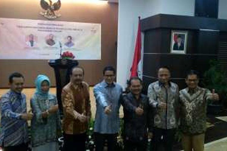 Peluncuran Program Pendampingan UMKM Menuju Pasar Global Melalu Pemasaran Online di Gedung Kementerian Koperasi UKM Jakarta, Rabu (04/05/2016).