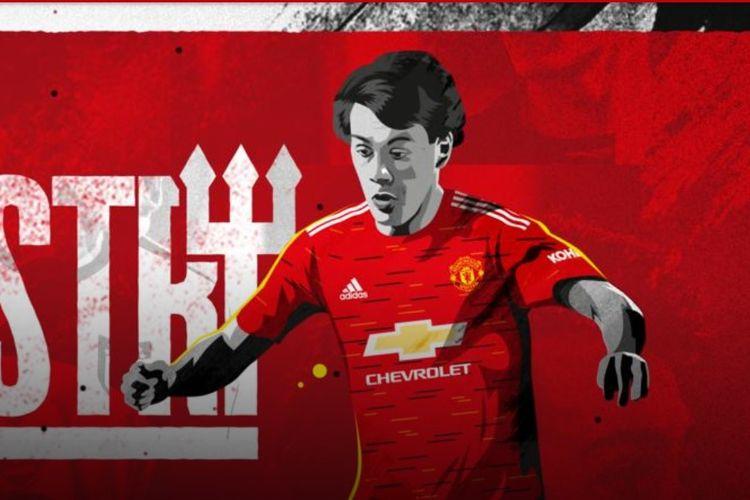Facundo Pellistri resmi berbaju Manchester United.