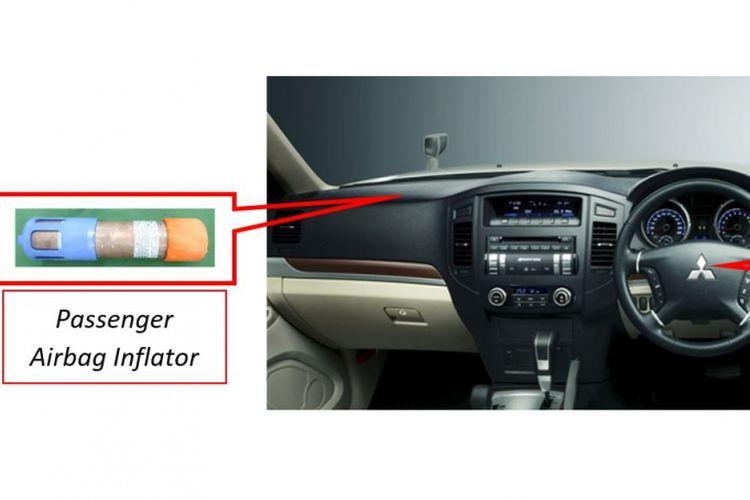 Ilustrasi letak komponen ?Passenger Airbag Inflator? untuk model DELICA