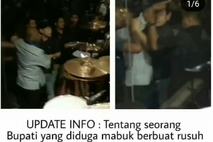Seorang pria yang diduga bupati di Papua mengamuk di sky lounge hotel Swiss Bell,  Jl Pasar Ikan, Makassar, Sabtu (5/1/2019) malam.