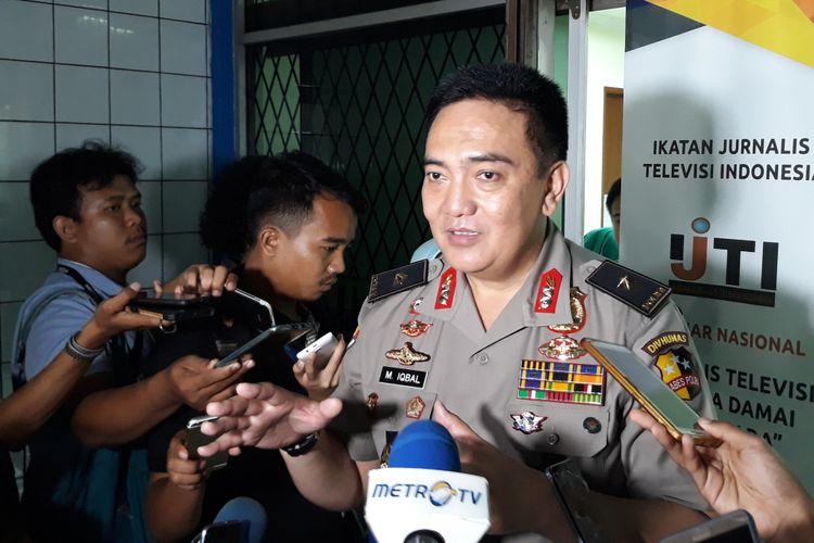 Kepala Biro Penerangan Masyarakat Divisi Humas Polri Brigjen Mohammad Iqbal di Gedung Dewan Pers Jakarta, Jumat (2/3/2018).