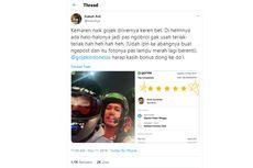Driver Ojol Jadi Viral gara-gara Alat Komunikasi di Helm