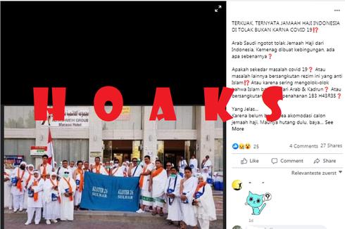 [HOAKS] Jemaah Haji Indonesia Ditolak Arab Saudi karena Belum Bayar Bea Akomodasi