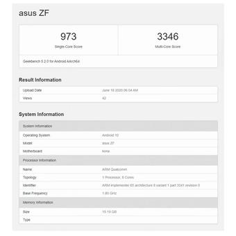Bocoran spesifikasi kunci Asus Zenfone 7