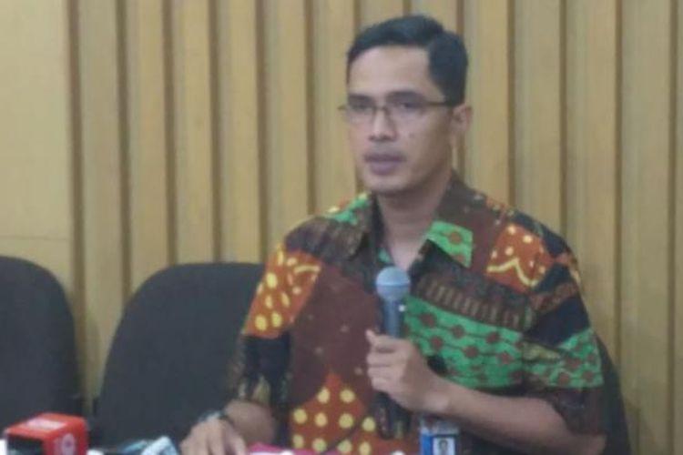 Juru Bicara Komisi Pemberantasan Korupsi (KPK) Febri Diansyah di gedung KPK, Jakarta, Selasa (17/1/2017)