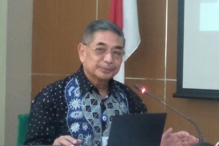 Kepala Lembaga Biologi dan Pendidikan Tinggi Eijkman Kementerian Riset dan Teknologi, Amin Soebandrio di Kantor IDI, Jakarta Pusat, Jumat (13/3/2020)