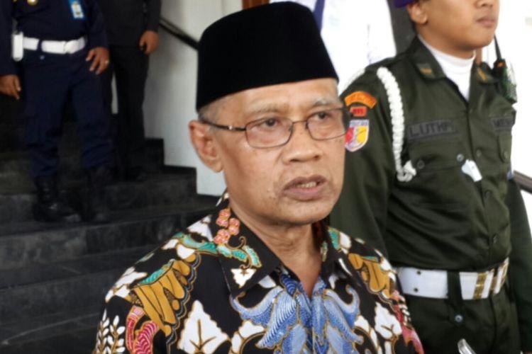 Ketua Umum Pimpinan Pusat Muhammadiyah Haedar Nashir saat menghadiri Pesmaba Universitas Muhammadiyah Malang, Senin (2/9/2019)