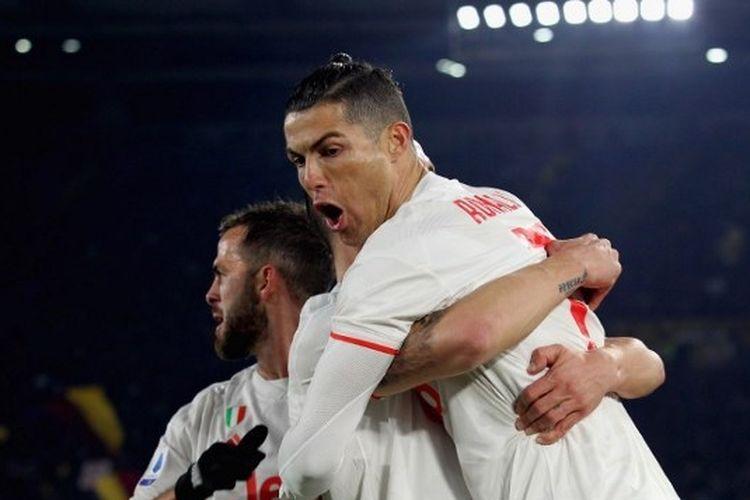 Laga Roma vs Juventus pada lanjutan pekan ke-19 Liga Italia, Senin (13/1/2020) dini hari WIB.