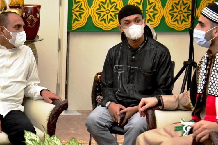 Gubernur Sumut Edy Rahmayadi menerima kunjungan silaturahim Syech Mahmoud Mohammed Abd Ell-al, Jumat (21/5/2021).