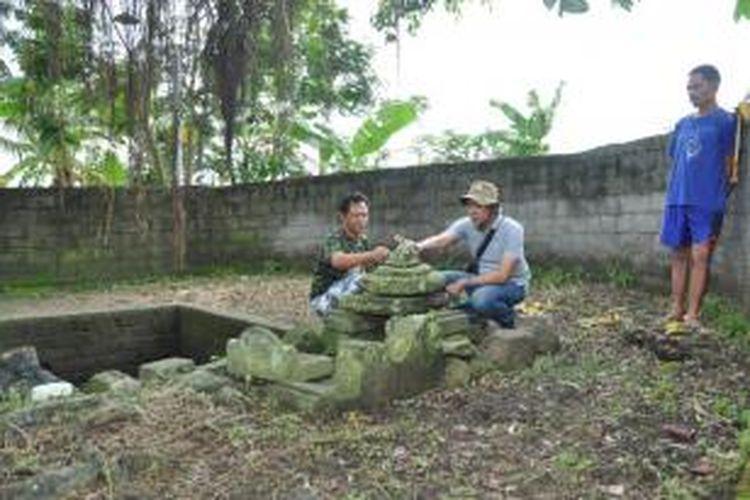 Temuan struktur dan kemuncak candi didusun Sambiroto, Desa Wonorejo, Pringapus, Kabupaten Semarang