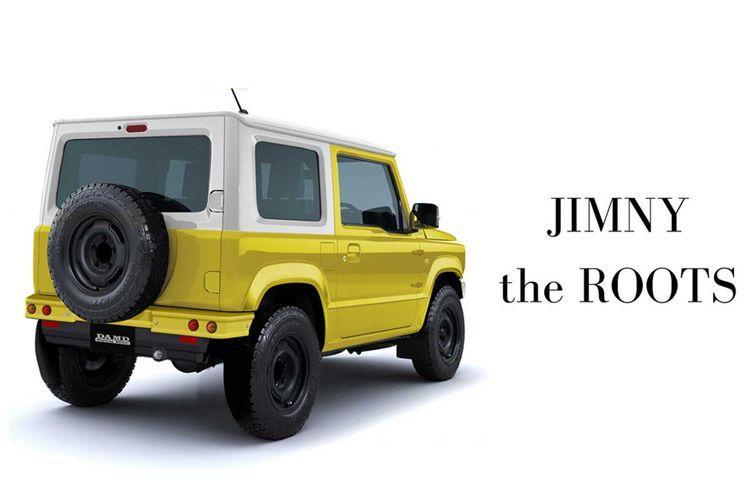 Tampilan belakang Suzuki Jimny The Roots yang minimalis tanpa kosmetik yang mencolok