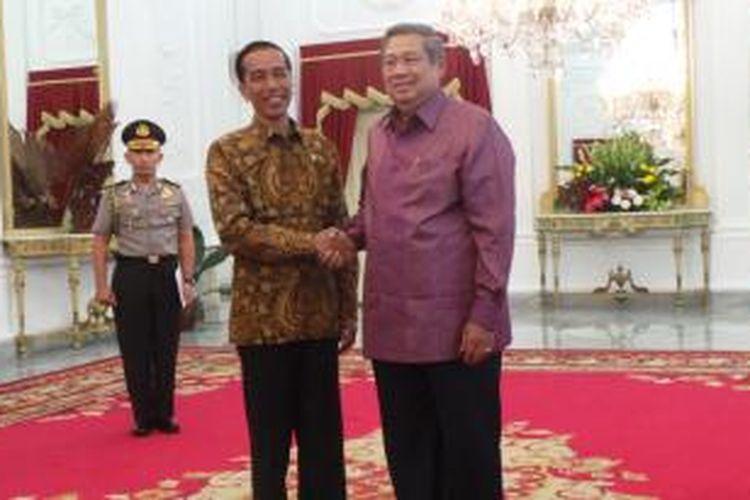 Presiden Joko Widodo bertemu Presiden ke-6 Susilo Bambang Yudhoyono