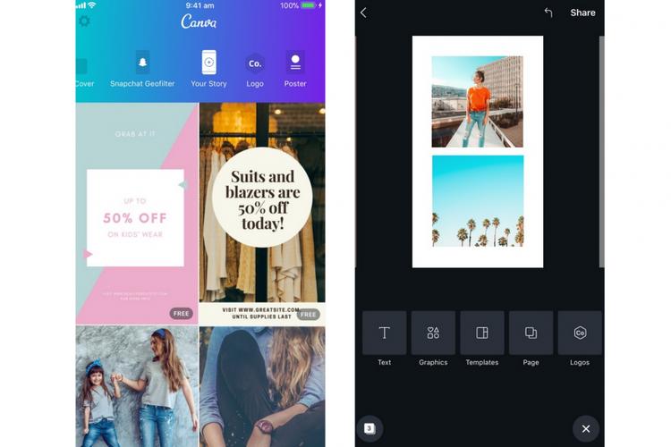 Aplikasi pengeditan untuk Instagram Stories