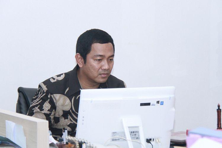 Wali Kota Semarang Hendrar Prihadi saat memberikan keterangan mengenai gerakan antisipasi virus Ransomeware WannaCry untuk sejumlah rumah sakit di Semarang.