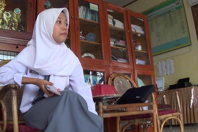 Nabila (16) menceritakan pertemuannya dengan saudari kembarnya  di media sosial. Senin, (13/1/2020).