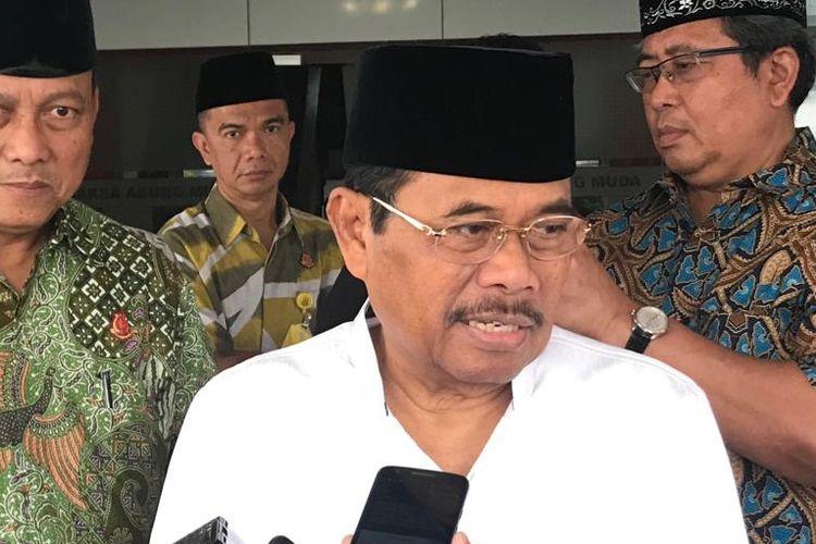 Jaksa Agung HM Prasetyo di Kompleks Kejaksaan Agung RI, Jakarta Selatan, Jumat (21/6/2019).