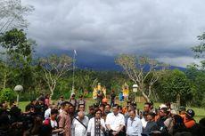 Pastikan Bali Aman, Menteri Luhut Datangi Pos Pantau Gunung Agung