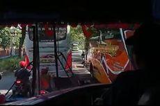 Bus Sugeng Rahayu Tabrak Bus Mira di Ngawi, Satu Pengendara Motor Terjepit, Hanya Alami Luka Lecet