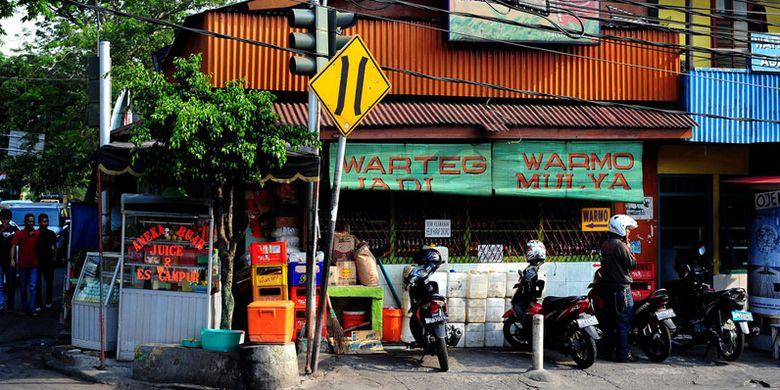 Warteg Warmo di Tebet, Jakarta Selatan.