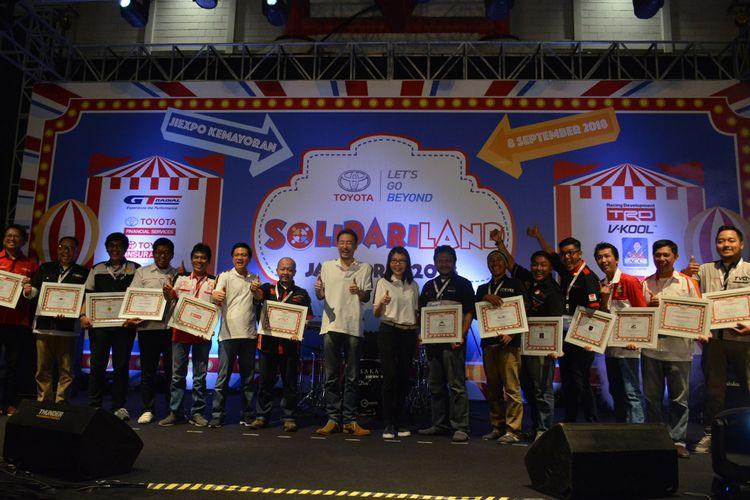 Toyota Jamboree 2018, di JIExpo Kemayoran Jakarta, Sabtu (8/9). Melalui dukungannya terhadapa Toyota Jamboree 2018 bertema Solidariland, TAM ingin makin meningkatkan solidaritas sesame anggota komunitas otomotif yang tergabung dalam Toyota Owner Club (TOC) untuk bersama-sama menyebarkan nilai-nilai positif kepada masyarakat dalam menggapai masa depan yang lebih baik